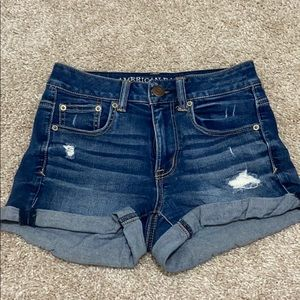 American Eagle size 2 distressed shorts